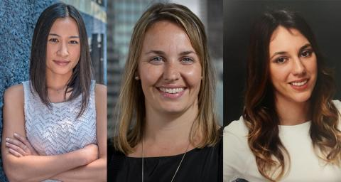 From L-R: Dr. Lianping Ti, assistant professor, UBC; research scientist, BCCSU; Dr. Seonaid Nolan, addiction medicine physician, St. Paul's Hospital; clinician scientist, BCCSU; recipient of the Steven Diamond Professorship in Addiction Care Innovation, UBC; Dr. Tamara Mihic, clinical pharmacy specialist, St. Paul's Hospital.