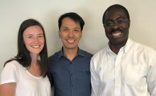 Brenda Vaughan, Dr. Joseph Puyat and Dr. Kofi Bonnie